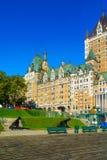 Dufferin terrass och Chateau Frontenac, i Quebec City arkivbild