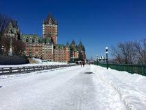 Dufferin-Terrasse, Dia, Chateau Frontenac, Québec-Stadt im Winter Stockfoto