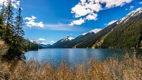 Duffey Lake in the Coast Mountain Range between Pemberton and Lillooet Royalty Free Stock Photos
