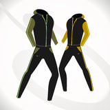 Duffle vector. Fashionable, sporty suit for fitness. vector format Royalty Free Stock Photos