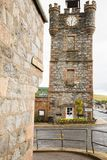 Dufftown clock tower scotland stock image
