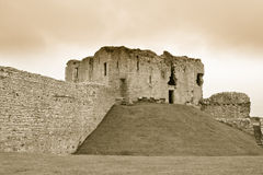 Duffus Castle courtyard Stock Photography