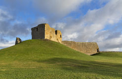 Duffus Castle in December. Stock Image