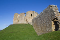 Duffus Castle perimeter wall Royalty Free Stock Images