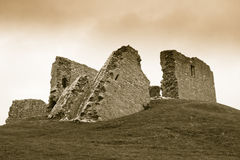 Duffus Castle ruins Stock Photography