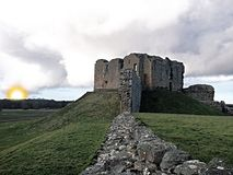 Duffus castle Stock Photography