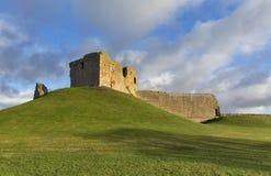 Duffus-Schloss im Dezember. Stockbild