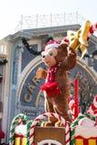 DUFFY DISNEY DRAAGT viert het Nieuwjaar van Kerstmis Stock Afbeelding
