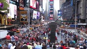 Duffy Square in New York City stock video footage