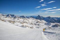 Dufourspitze krajobraz od Gressoney Fotografia Royalty Free
