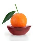 Duftende Kerze der Mandarine Stockbild