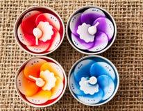 duftende Kerzen Stockfoto
