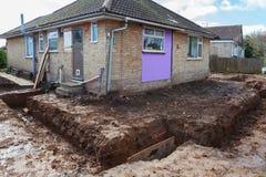 Dug foundations royalty free stock photos