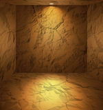 Dug room with earthen walls Stock Photo
