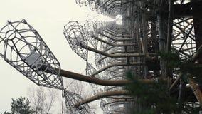Duga在切尔诺贝利,Pripyat,乌克兰附近的雷达结构 影视素材