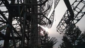 ` Duga ` радиолокационной станции стоковые фотографии rf
