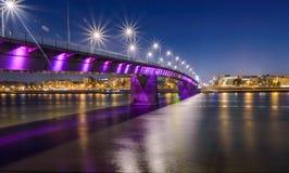 Duga-Brücke in Novi Sad Stockbilder