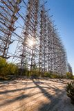Duga at Chernobyl -2. Large antenna field. Soviet radar system Duga at Chernobyl nuclear power plant. ABM missile defense. Antenna field, over-the-horizon radar royalty free stock image
