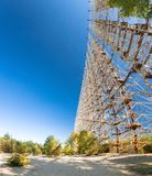 Duga at Chernobyl -2. Large antenna field. Soviet radar system Duga at Chernobyl nuclear power plant. ABM missile defense. Antenna field, over-the-horizon radar stock images
