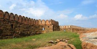 Długa ściana fortu krajobraz Fotografia Stock
