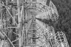 Duga de RLS en la zona de Chornobyl Fotos de archivo