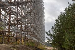 Duga radar in Chernobyl Exclusion Zone royalty free stock images