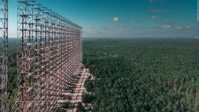 Duga-3 rader. Also known as`The woodpecker`and `Eye of Moscow`n`Russian Woodpecker`nAt some point in 1976, a new and powerful radio signal was detected stock photo