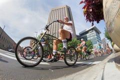 długa rower przejażdżka dla wycieczki turysycznej De Sadło Zdjęcie Royalty Free