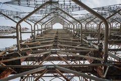 Duga-3 Soviet radar system in Chernobyl Nuclear Power Plant Stock Image