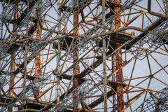 Duga-3 Soviet radar system in Chernobyl Nuclear Power Plant Zone Royalty Free Stock Images