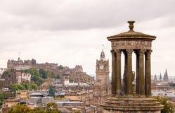 Dugald斯图尔特纪念碑在爱丁堡 免版税库存照片