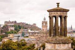 Dugald斯图尔特纪念碑在爱丁堡 库存照片