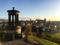 Dugald斯图尔特纪念碑, Calton小山,爱丁堡,苏格兰 图库摄影