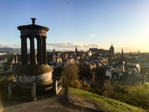Dugald Stewart Monument, Calton-Hügel, Edinburgh, Schottland Stockfotografie