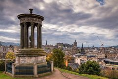 Dugald Stewart Monument on Calton Hill royalty free stock photo