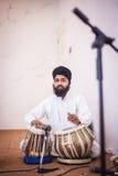 Duggi παιχνιδιού μουσικών Punjabi στοκ φωτογραφίες