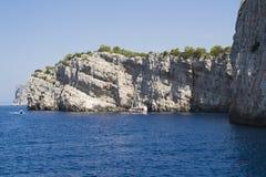 Dugi Otok Cliff at Kornati Islands, Croatia. Royalty Free Stock Images