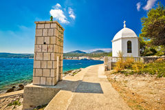 Dugi otok island lantern and chapel Stock Images