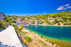 Dugi otok island pictoresque village. Dalmatia, Croatia Royalty Free Stock Photo