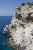 Dugi Otok Klippe in Kornati Inseln, Kroatien. Stockbild