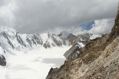 Dugoba glacier, Pamir-alay Stock Photo