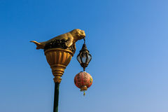 Dugong statue on electricity post Royalty Free Stock Photography