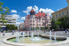 Dugonics Square in Szeged Stock Images