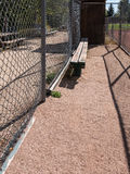 Dugout, baseball field Royalty Free Stock Photo
