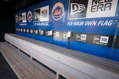 Dugout för NY Mets Arkivbild