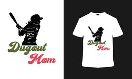 Dugout Mom T shirt Design, typography t shirt, apparel, template