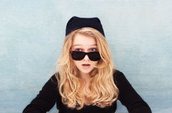 Duh Zaskakiwał chłodno nastolatka fotografia royalty free