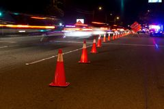 DUI Checkpoint Stock Images