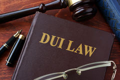 DUI Law title. DUI Law title on a book and gavel Stock Photo