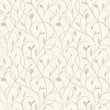 Duidelijk bloemenblauw op beige naadloos patroon Royalty-vrije Stock Afbeelding